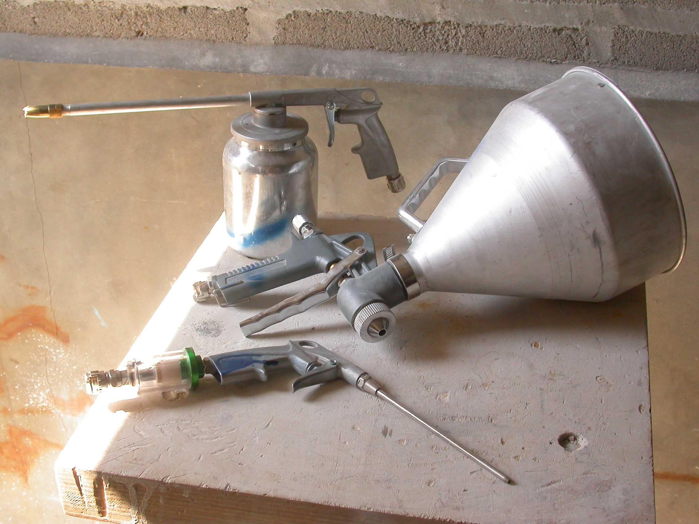 matériel pour souffler, vaporiser projeter la pulpe de papier