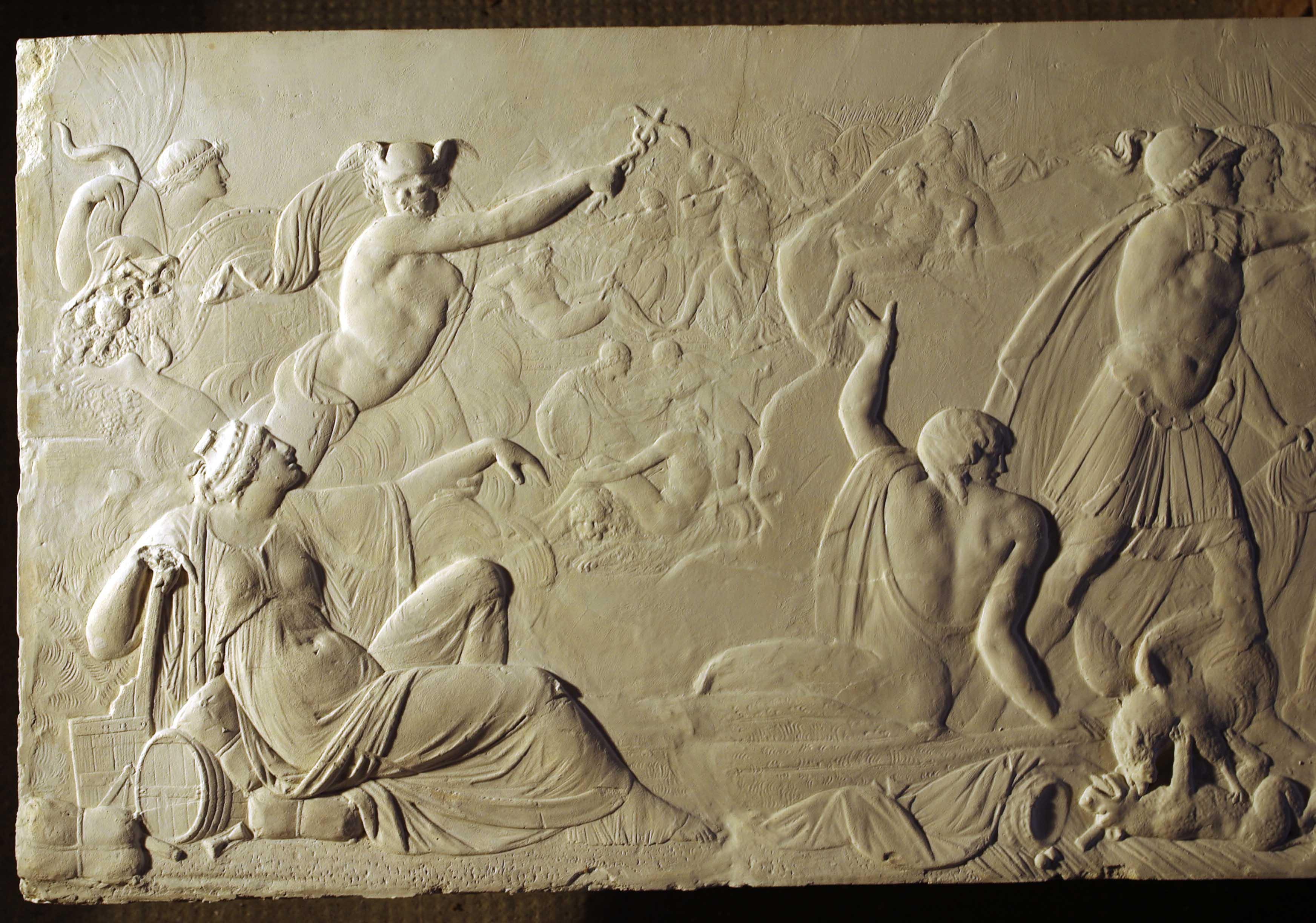 Fulbert Dubois restauration patrimoine sculpture restauration relief plâtre après