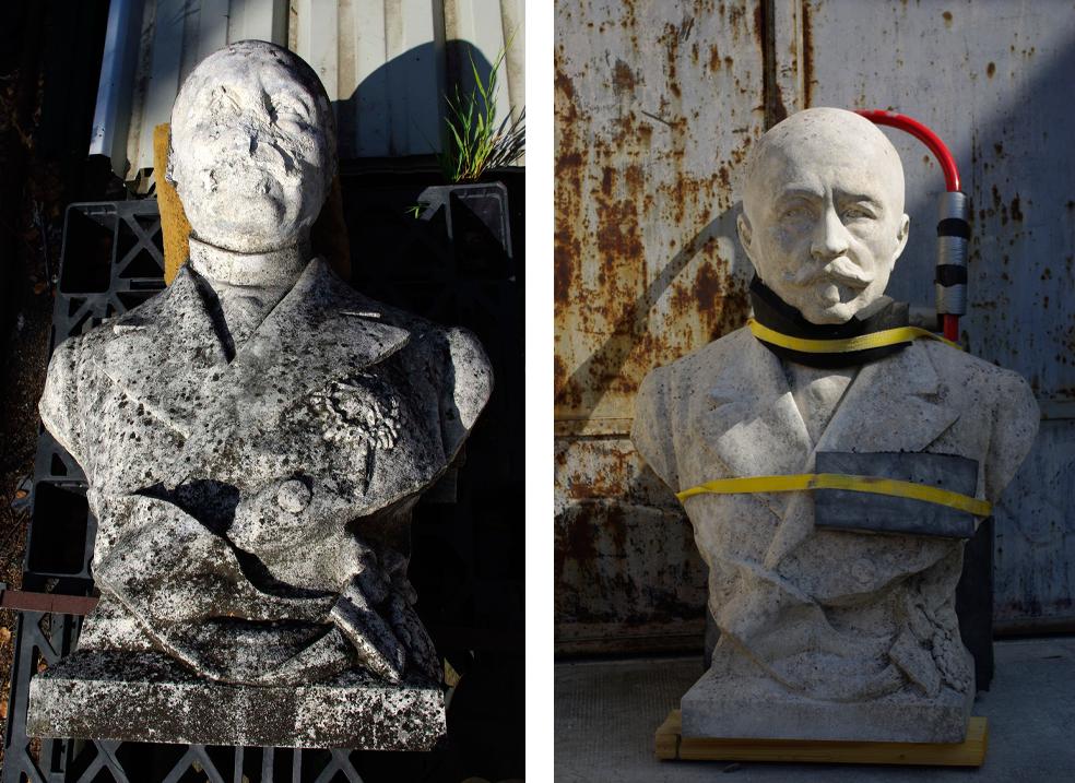 Fulbert Dubois restaurateur patrimoine restitution manque sculpture avant aprés